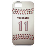 Cool Baseball Stitches - Custom Number 11 and Name iPhone 5 Case