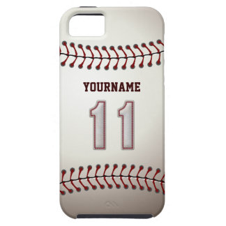Cool Baseball Stitches - Custom Number 11 and Name iPhone SE/5/5s Case