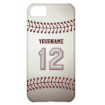 Cool Baseball Stitches - Custom Number 12 and Name iPhone 5C Covers