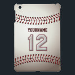 """Cool Baseball Stitches - Custom Number 12 and Name iPad Mini Cover<br><div class=""""desc"""">This unique design and number are specially created to imitate Baseball Stitches Look.    Hope you will like it.</div>"""
