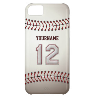 Cool Baseball Stitches - Custom Number 12 and Name iPhone 5C Case