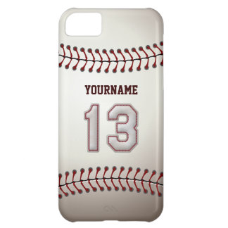 Cool Baseball Stitches - Custom Number 13 and Name iPhone 5C Cover