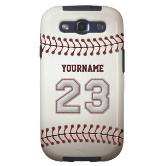 Cool Baseball Stitches - Custom Number 23 and Name Samsung Galaxy SIII Cases