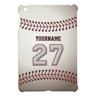 Cool Baseball Stitches - Custom Number 27 and Name Case For The iPad Mini