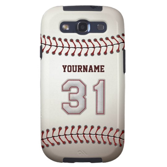 Cool Baseball Stitches - Custom Number 31 and Name Samsung Galaxy S3 Case