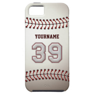 Cool Baseball Stitches - Custom Number 39 and Name iPhone SE/5/5s Case