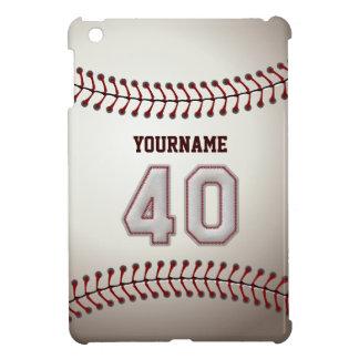 Cool Baseball Stitches - Custom Number 40 and Name iPad Mini Cases