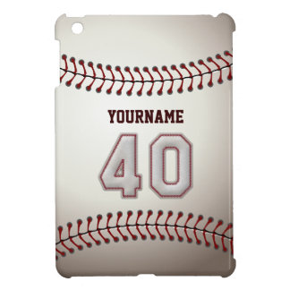 Cool Baseball Stitches - Custom Number 40 and Name iPad Mini Cover