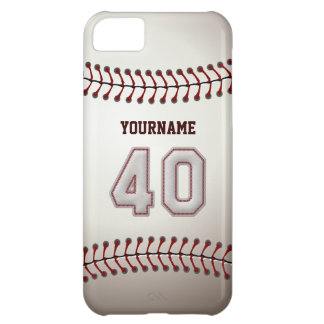 Cool Baseball Stitches - Custom Number 40 and Name iPhone 5C Cover
