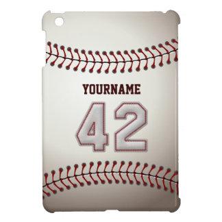 Cool Baseball Stitches - Custom Number 42 and Name iPad Mini Case