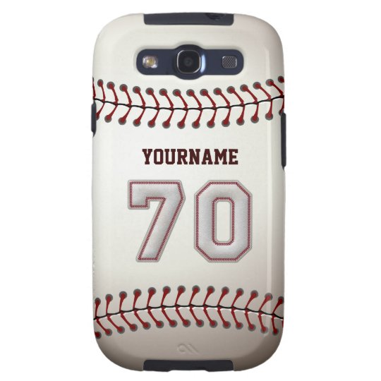 Cool Baseball Stitches - Custom Number 70 and Name Galaxy S3 Cover