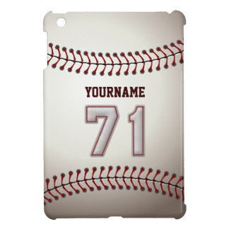 Cool Baseball Stitches - Custom Number 71 and Name iPad Mini Covers