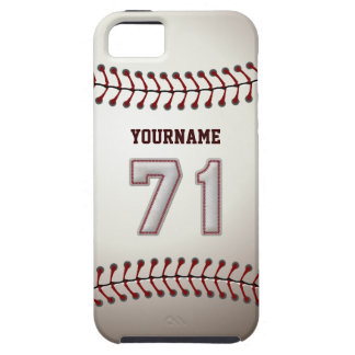 Cool Baseball Stitches - Custom Number 71 and Name iPhone SE/5/5s Case