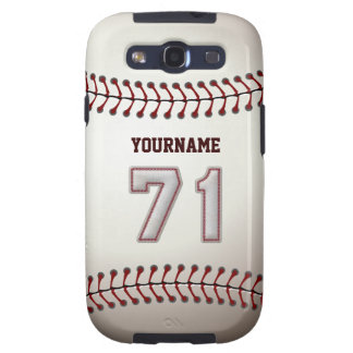 Cool Baseball Stitches - Custom Number 71 and Name Samsung Galaxy S3 Case
