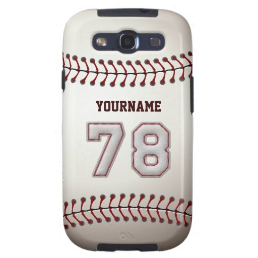 Cool Baseball Stitches - Custom Number 78 and Name Galaxy SIII Case