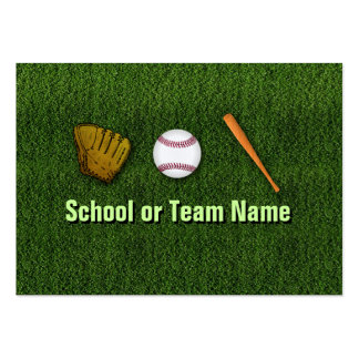Cool Baseball Team - Coach Player Trainer Staff Large Business Cards (Pack Of 100)