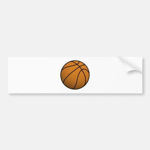 Cool Basketball and Custom Sports B Ball Bumper Stickers