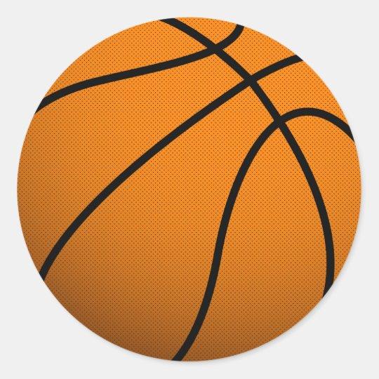Cool Basketball and Custom Sports B Ball Classic Round Sticker