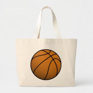 Cool Basketball and Custom Sports B Ball Large Tote Bag