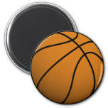 Cool Basketball and Custom Sports B Ball 2 Inch Round Magnet
