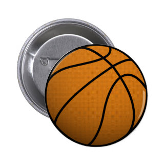 Cool Basketball and Custom Sports B Ball Pinback Button