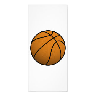 Cool Basketball and Custom Sports B Ball Customized Rack Card