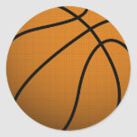 Cool Basketball and Custom Sports B Ball Round Sticker