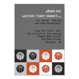 COOL BASKETBALL Bar Mitzvah Invitation