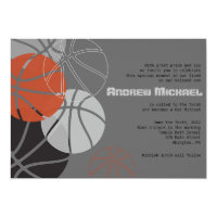 Basketball Bar Mitzvah Invitations Announcements Zazzle