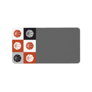 COOL BASKETBALL Bar Mitzvah Print Your Own Label