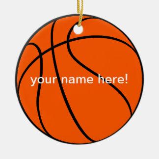 cool basketball ceramic ornament