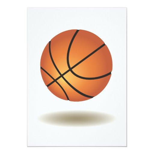 "Cool Basketball Emblem 5"" X 7"" Invitation Card"