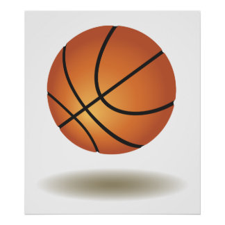 Cool Basketball Emblem Poster