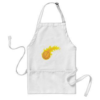 Cool Basketball Fire Icon Logo Shirt Adult Apron