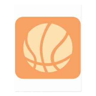 Cool Basketball Icon Logo Postcard