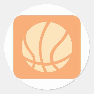 Cool Basketball Icon Logo Round Stickers