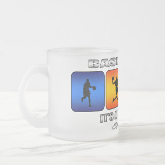 Cool Basketball It Is A Way Of Life Frosted Glass Coffee Mug