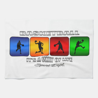 Cool Basketball It Is A Way Of Life Kitchen Towel