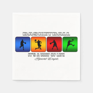 Cool Basketball It Is A Way Of Life Napkin