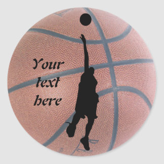 Cool Basketball Personalized Classic Round Sticker