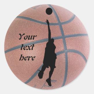 Cool Basketball Personalized Sticker
