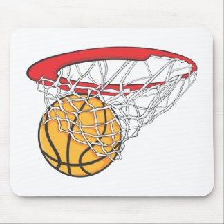 Cool Basketball Shoot in Ring Net Shirt Mouse Pad