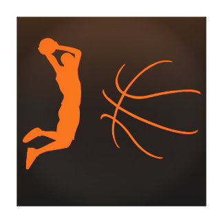 Cool Basketball Silhouette Illustration Canvas Print