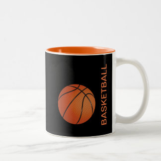 Cool Basketball Sports Theme Two-Tone Coffee Mug