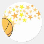 Cool Basketball Stars Icon Logo Shirt Round Stickers