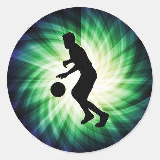 Cool Basketball Round Sticker