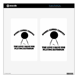 cool Bass drum designs Skins For Kindle Fire