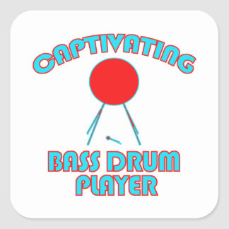 cool Bass drum DESIGNS Square Sticker