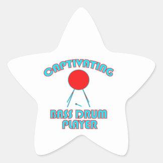 cool Bass drum DESIGNS Star Sticker
