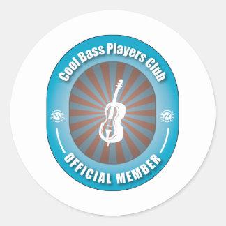 Cool Bass Players Club Classic Round Sticker
